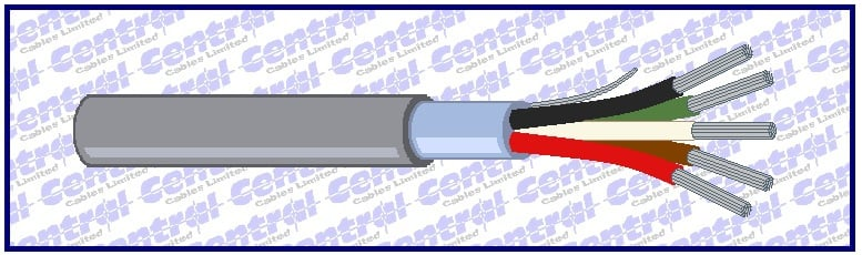 B04) Alt. Belden 24awg cores CAT screened RS232