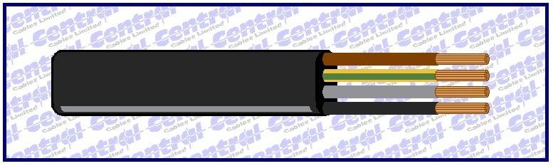 Flatform PVC (H05VVH6 and H07VVH6) cable image