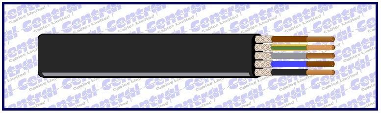 Flatform PVC CY screened (CWB) cable image