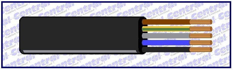 Neo-Flat rubber (NGFLGOEU) cable image