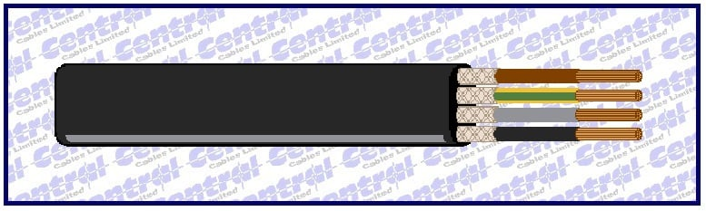 Neo-flat CY screened rubber cable image
