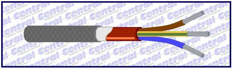 SIHF/P armoured multicore silicone cable image