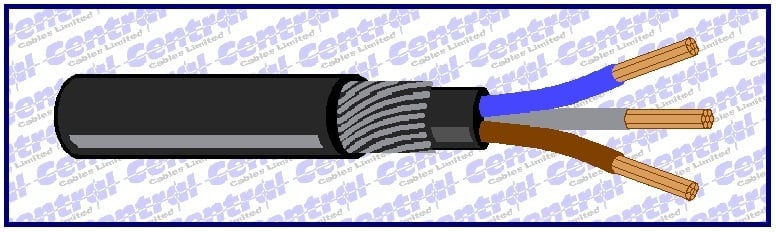XLPE/SWA/PVC BS5467 armoured 1kV cable image