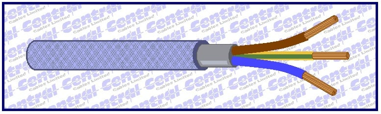 Sy Control Cable : Sy jb ob armoured control cable colour code central cables