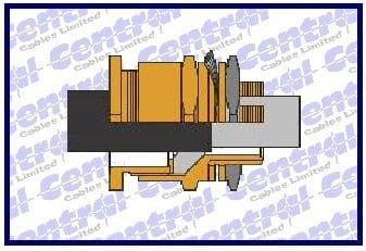CXT brass braid termination glands