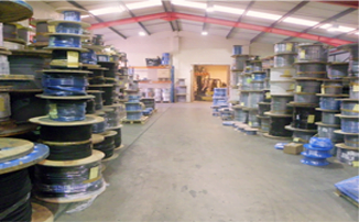 Warehouse stock of cable reels